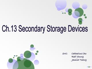 Ch.13 Secondary Storage Devices