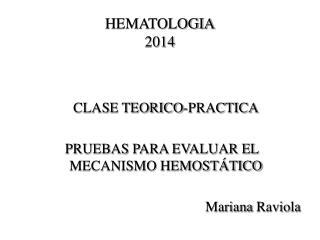 HEMATOLOGIA 2014