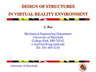 DESIGN OF STRUCTURES  IN VIRTUAL REALITY ENVIRONMENT