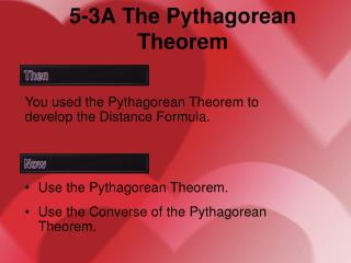 5-3A The Pythagorean Theorem