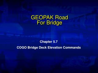 GEOPAK Road For Bridge