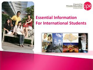 Essential Information For International Students