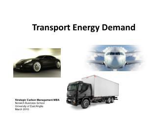 Transport Energy Demand