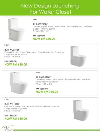 New  Design Launching  For Water Closet