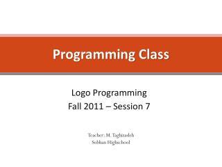 Programming Class