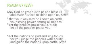 Psalm 67 (ESV)
