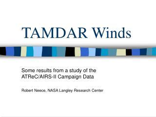 TAMDAR Winds