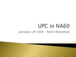 UPC in  NA60