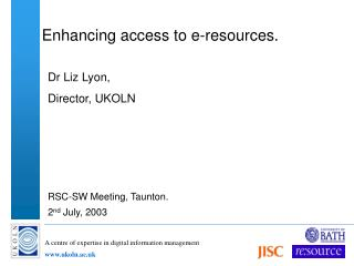 Enhancing access to e-resources.