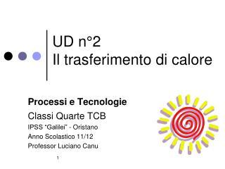 UD n�2 Il trasferimento di calore
