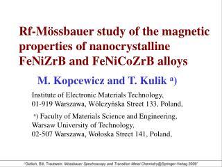 M. Kopcewicz and T. Kulik  a )