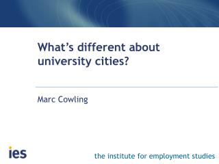 What's different about university cities?