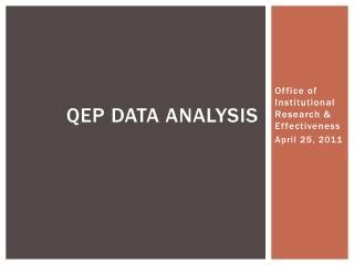 QEP Data Analysis