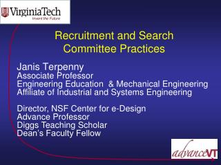 Recruitment and Search Committee Practices