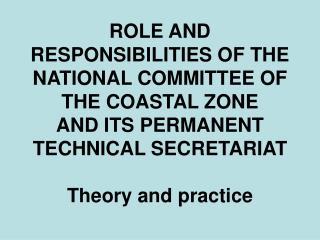 ICZM legal framework