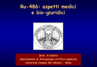 Ru-486: aspetti medici e bio-giuridici
