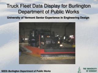 Truck Fleet Data Display for Burlington Department of Public Works