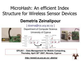 MicroHash: An efficient Index Structure for Wireless Sensor Devices