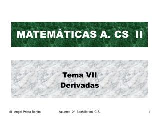MATEM�TICAS A. CS  II