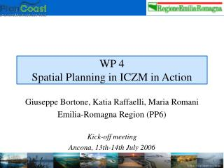 WP 4 Spatial Planning in ICZM in Action