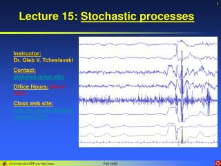 Lecture 15:  Stochastic processes