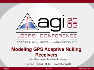 Modeling GPS Adaptive Nulling Receivers