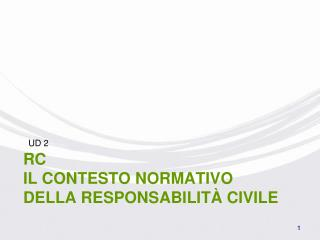 RC Il contesto normativo della Responsabilità Civile