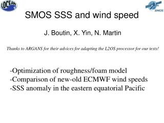 SMOS SSS and wind speed