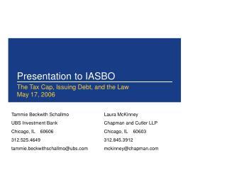 Presentation to IASBO