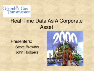 Real Time Data As A Corporate Asset