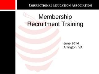 Membership  Recruitment Training