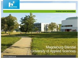 Magdeburg - Stendal University  of  Applied  Sciences