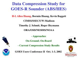 Data Compression Study for GOES-R Sounder (ABS/HES)