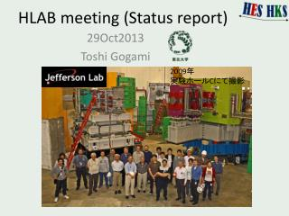 HLAB meeting (Status report)