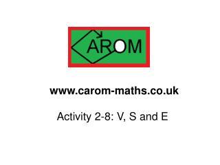 Activity 2-8: V, S and E