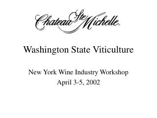 Washington State Viticulture