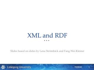 XML and RDF