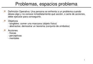 Problemas, espacios problema