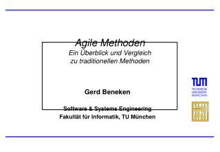 Agile Methoden Ein  berblick und Vergleich  zu traditionellen Methoden