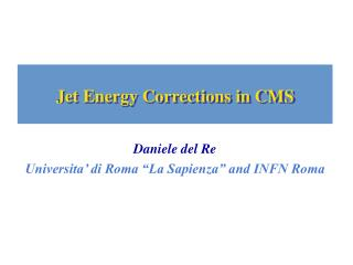 Jet Energy Corrections in CMS