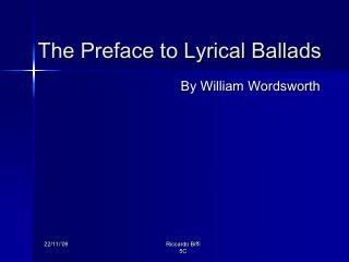 The Preface to Lyrical Ballads