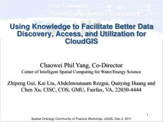 Using Knowledge to Facilitate Better Data Discovery, Access, and Utilization for CloudGIS