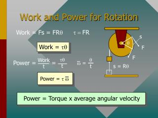 Work and Power for Rotation