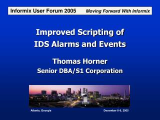 Improved Scripting of IDS Alarms and Events