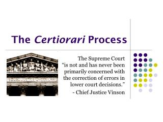The  Certiorari  Process