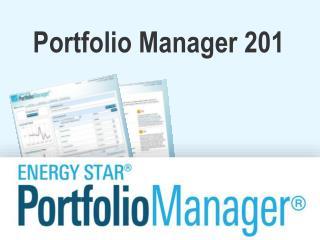 Portfolio Manager 201