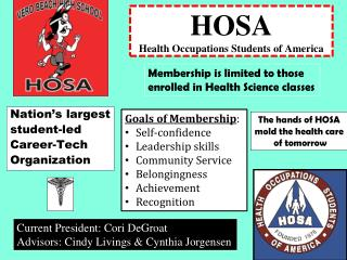 HOSA Health Occupations Students of America