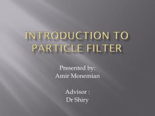 Introduction to particle filter