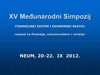 XV Međunarodni Simpozij
