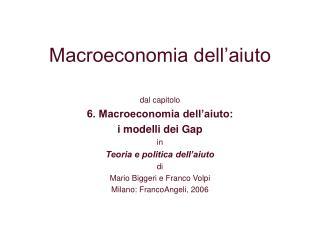 Macroeconomia dell'aiuto